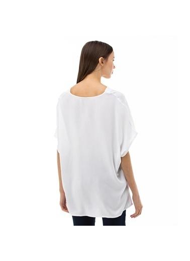 Lacoste Kadın V Yaka Bluz QF0004.04A Beyaz